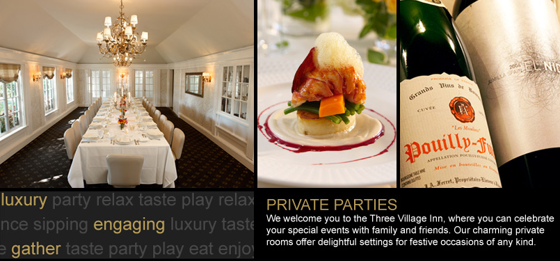 Private parties at Estate at Three Village Inn
