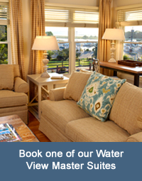 Book one of our Water View Master Suites