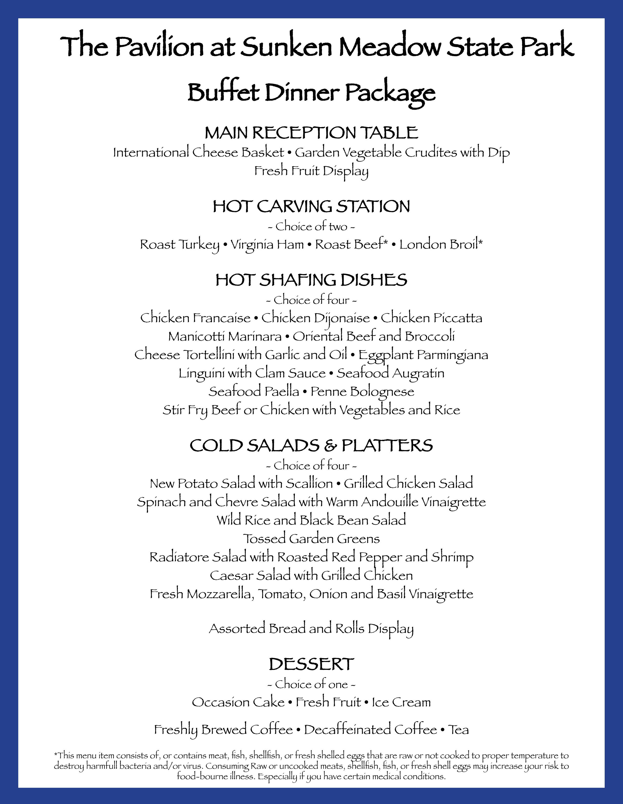 Weddings Buffet Dinner Package