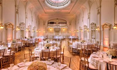 View Photo - Marvelous view of the grand ballroom with beautiful rose centerpieces