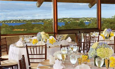 View Photo - Beautiful wedding table settings overlooking water