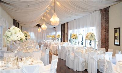 View Photo - Gorgeous all white wedding reception
