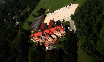 View Photo - Aerial view of Chateau at Coindre Hall