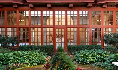 View Photo - Glass window panes overlooking garden