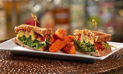 View Photo - Sandwich with sweet potato fries