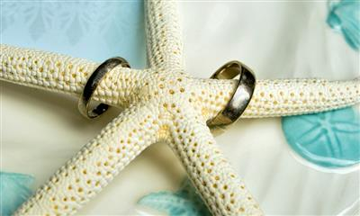 View Photo - Starfish and wedding bands