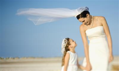 View Photo - Bride and flower girl