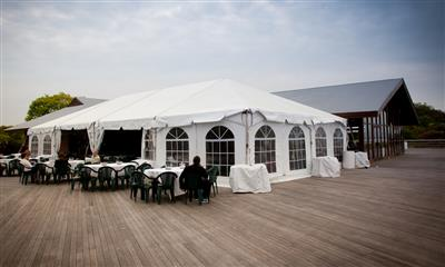 View Photo - White wedding tent