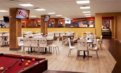 View Photo - Student dining area and pool table