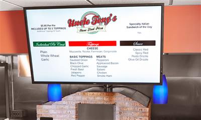 View Photo - Uncle Tony's stone fired pizza menu