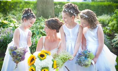 View Photo - Bride with flower girls