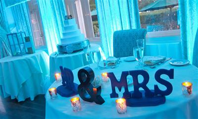View Photo - Mr and Mrs table decoration