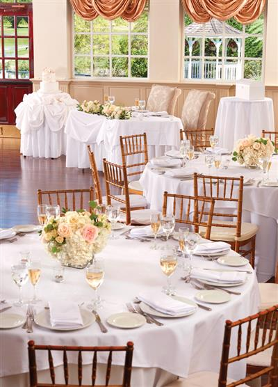 View Photo - Fancy white table setting