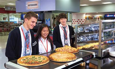 View Photo #4 - Students at Pizza Station