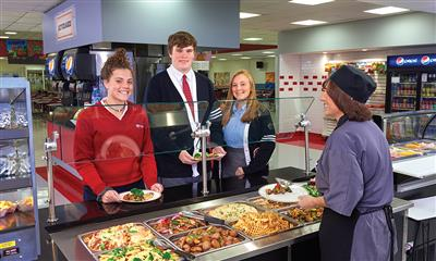 View Photo #1 - Students Getting Hot Food in Cafeteria