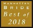 Award for Manhattan bride best of 2018