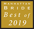 Award for Manhattan bride best of 2019 (Opens in a New Window)