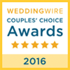 Wedding Wire Award for 2016 (Opens in a New Window)