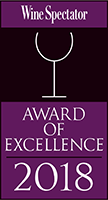 Wine Spectator Award for 2018 (Opens in a New Window)