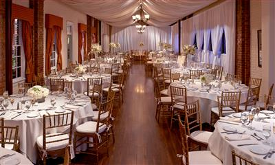 View Photo #3 - White wedding reception table settings