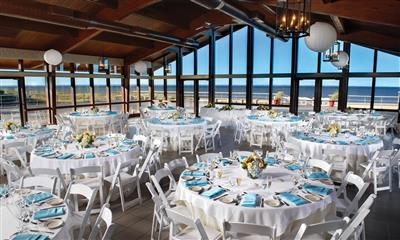 View Photo #1 - Pavilion reception room with a view of the beach