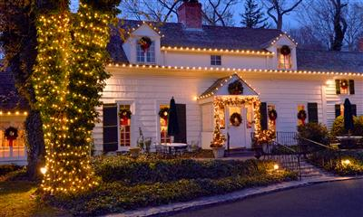 View Photo #1 - Holiday lights at Three Village Inn