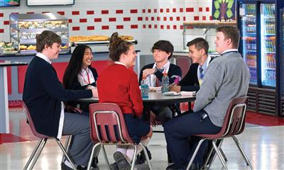 View Photo #6 - Students Eating and Talking in Cafeteria
