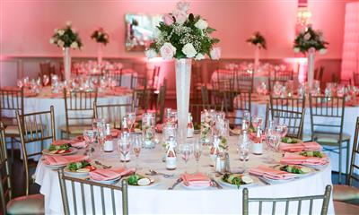 View Photo #9 - Pink table set up