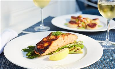 View Photo #15 - Salmon dish while dining al fresco