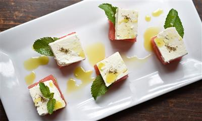 View Photo #6 - Watermelon, Feta Cheese and Mint Pyramid