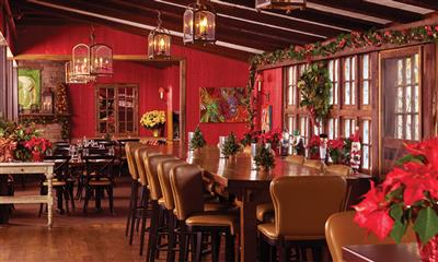 View Photo #1 - Tavern decorated for the holidays